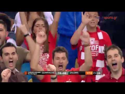 Ολυμπιακός - Ζάλγκιρις Κάουνας  79 - 68 2ος Αγώνας Playoffs Euroleague ( highlights)