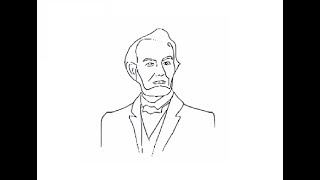 How to draw easy Abraham Lincoln face drawing step by step