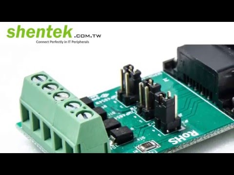 1 port High Speed RS 422 RS485 34mm ExpressCard 600W Surge Protection 4 wire RS485 shentek 33010
