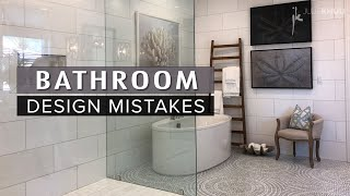 COMMON DESIGN MISTAKES | Bathroom Remodel Makeover Mistakes and How to Fix Them | Julie Khuu