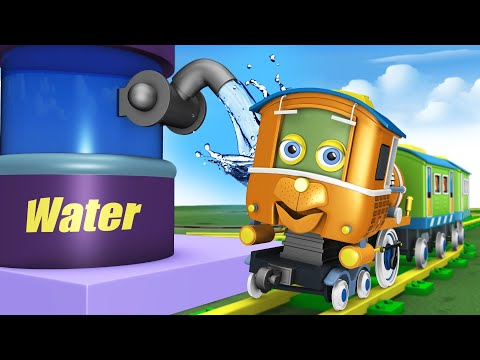 Trains for Kids - Thomas The Train Choo Choo Cartoon for Kids by Toy Factory