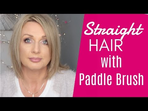 How To - Straight Hair With a Paddle Brush