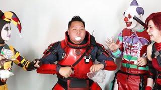 Funny Chubby Bunny Challenge with Gunzo the Clown! | Prince De Guzman Transformations
