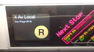 NYC Subway Late Night: R160 (R) FIND To Bay Ridge-95th Street (From Whitehall St)