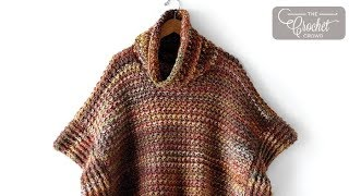 How To Crochet A Poncho: Tweed Under Wraps
