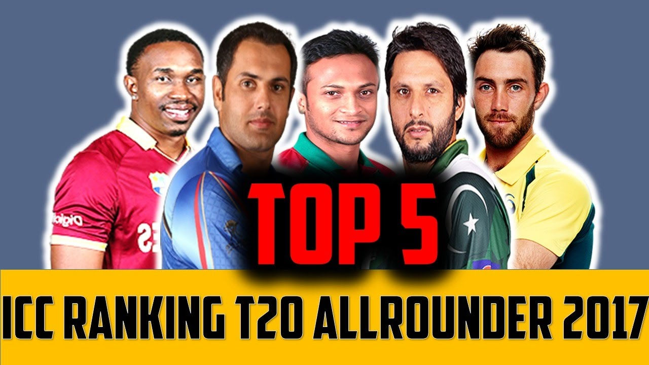 ICC cricket rankings all rounder 2017 || Top 5 icc all rounder ...
