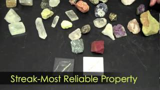 Mineral Characteristics-Hommocks Earth Science Department
