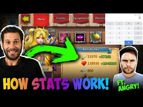 Break Down Of How Statistics Work In Castle Clash