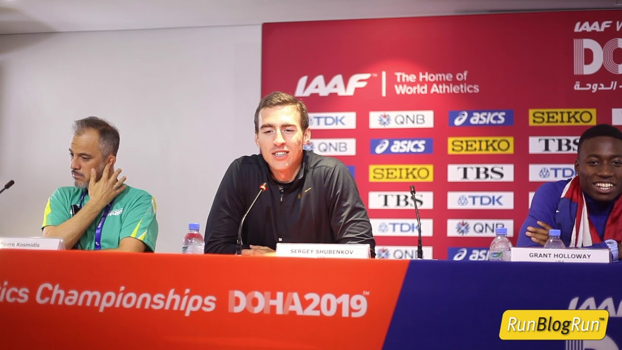 Doha WC 2019 - Men's 110m Hurdles Final Press Conference