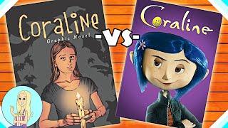 Coraline Graphic Novel vs. Movie