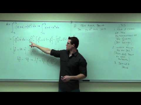 Calculus 1 Lecture 5.1:  Finding Area Between Two Curves