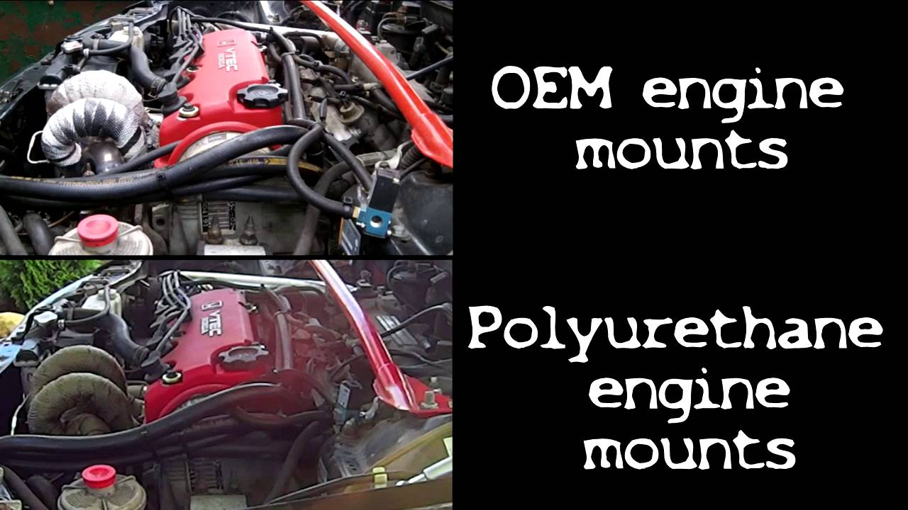 Oem vs polyurethane engine mounts youtube for Polyurethane motor mounts vs rubber