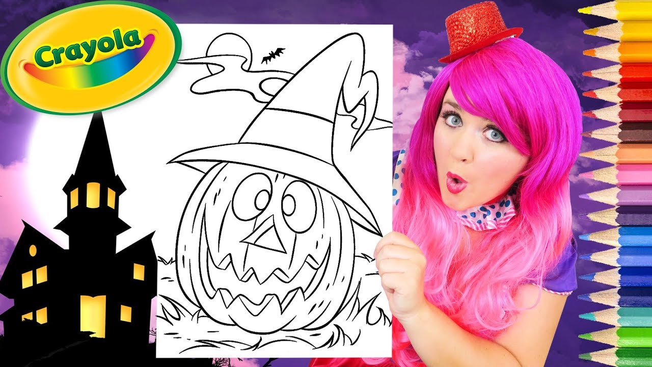 Coloring Halloween Pumpkin Witch Jack O Lantern Coloring Page