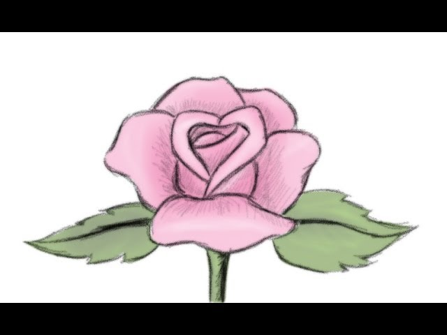 How To Draw A Beautiful Rose Flower Yzarts Yzarts Youtube