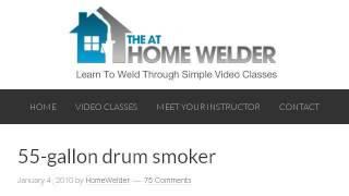 Homemade 55 Gallon Drum Smoker