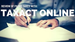 Taxact Review: Easy way to file taxes online?