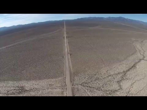 Drone on Groom Lake Road by Area 51(no view)-restricted airspace!