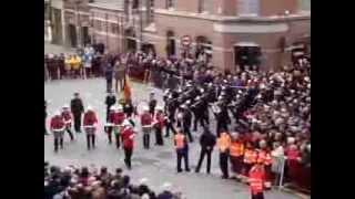 Koninklijke Harmonie Ypriana arrival @ Menenpoort Ieper, Remembrance Day Ceremony 11/11/2013