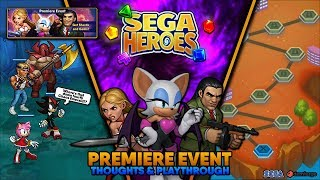 SEGA Heroes | PREMIERE EVENT | Thoughts & Playthrough