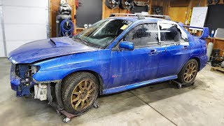 I Bought a FLOODED TOTALED Subaru WRX STI from a Salvage Auction & I'm going to Rebuild It!