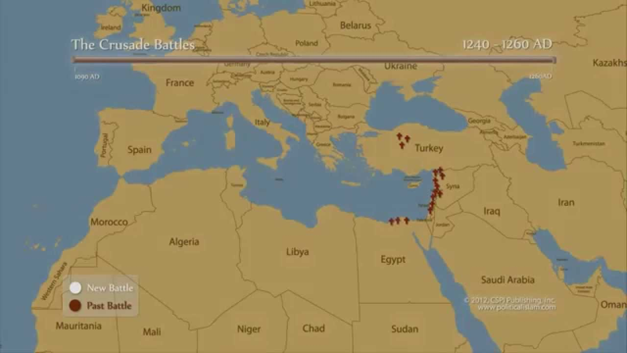 How many times Muslims invaded Europe vs. Europeans invaded Muslim ...