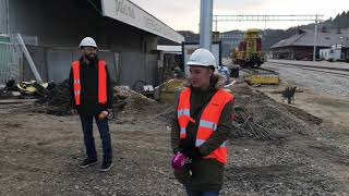 Bratuškova na ogledu nadgradnje železniške proge