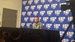 Stephen Curry on optimism despite trailing, 3 - 2