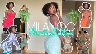 HUGE VACATION TRY ON HAUL  SUNDRESS TRY ON HAUL🍑  VACATION LOOK BOOK 🤎🌴  Milanoo