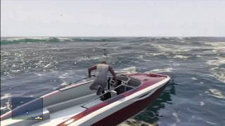 GTA V - How To Kill A Shark Chuck Norris Style!