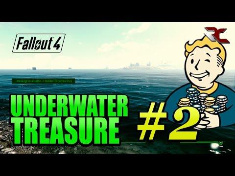 Fallout 4 - Underwater Secrets Exploration (Treasure Easter Egg #2)
