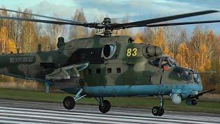 Учебно-тренировочные полеты армейской авиации ЗВО в рамках контрольной проверки
