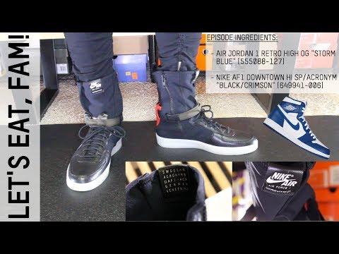 wholesale dealer 01c82 c2709 Nike AF1 Acronym is HUGE / Jordan 1 High OG Under Retail