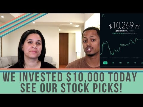 We Invested $10,000 Today & We're Sharing Our Stock Portfolio (Ep. 1 - Dividend Income)