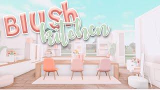 Blush Aesthetic Kitchen Speedbuild Blush Kitchen Ideas Bloxburg Bonnie Builds Youtube