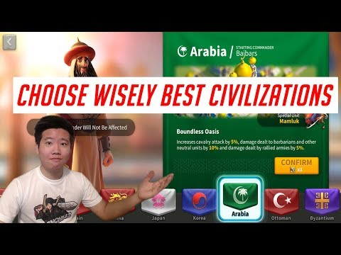 Best Civilizations /  Best Nations #1 Strategy MMO Game 2019 Guide | Rise of Civilizations