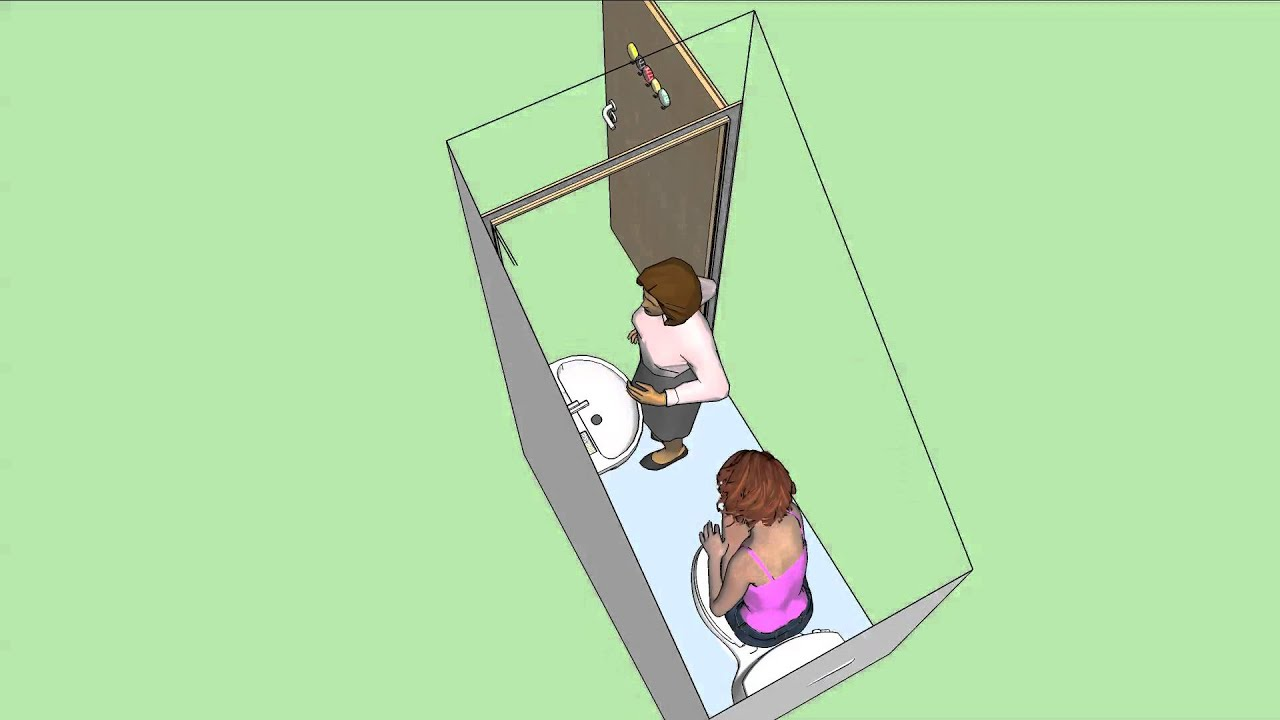 understairs toilet design idea