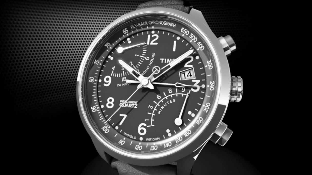 Timex Intelligent Quartz Flyback Chronograph - YouTube 62369e0590