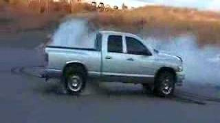General lee... Here I come, Dodge Ram Rubber Drift Burnout