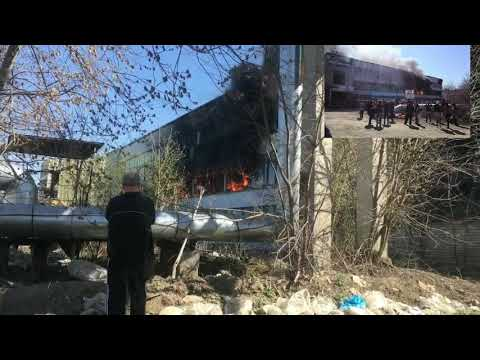 Видео пожара в Иванове: сегодня 26 апреля загорелся швейный цех