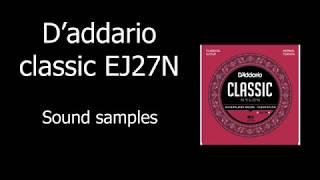 D'addario classic EJ27N Sound samples