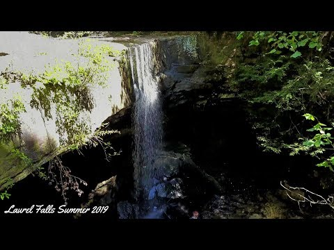 Laurel Falls Summer 2019 4K Drone Video Dji Mavic Pro Platinum
