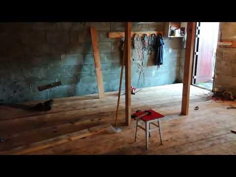 Сделать деревянный пол в гараже своими руками