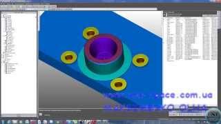 FeatureCam- фрезерная обработка отверстий и торцев