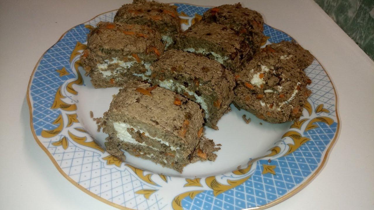 Такое Блюдо стоит Приготовить Обязательно! Вкусный Печёночный Рулет с Нежной Начинкой!!