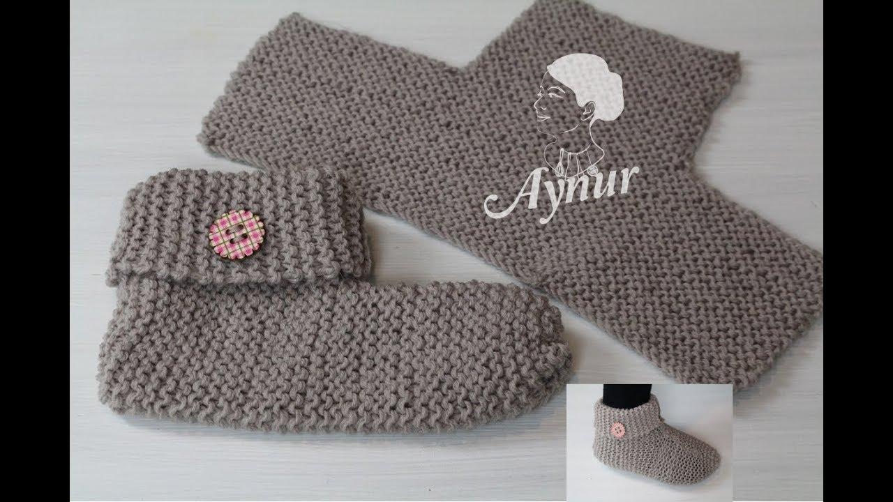 Diy Stricken Für Anfänger I Einfache Hausschuhe Stricken I Socken