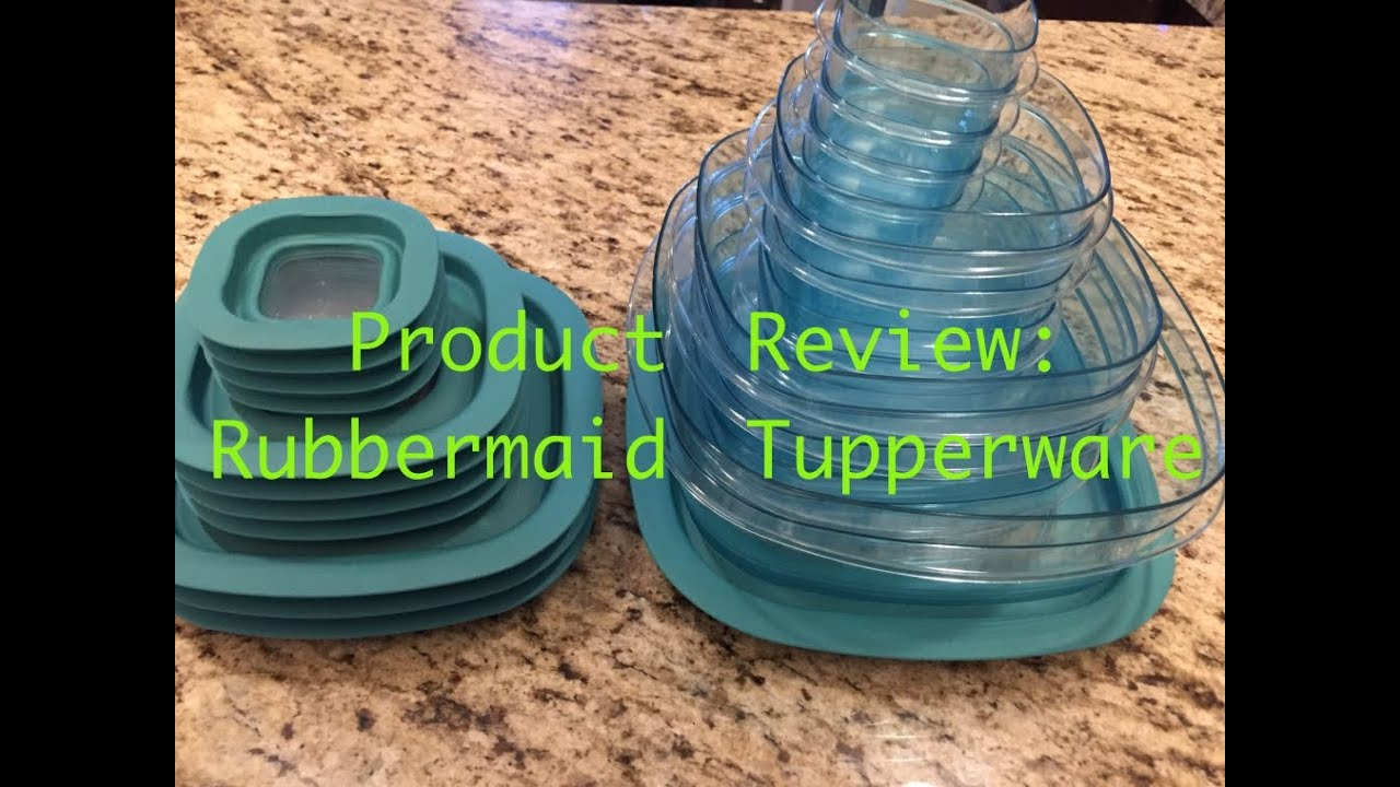 Product Review Rubbermaid Food Storage Containers YouTube
