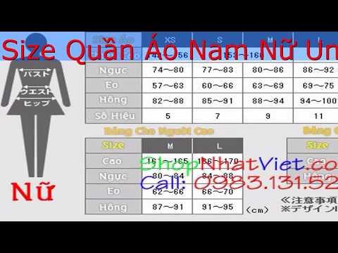 Cách Chọn Và Tính Size Quần Áo Nam Nữ Uniqlo Nhật Bản