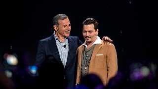 Johnny Depp receives his Disney Legend Award at the D23 Expo