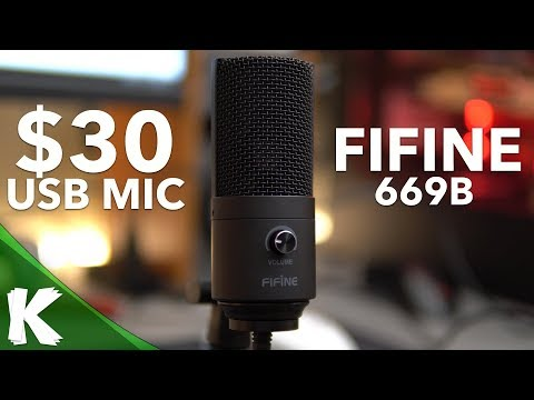 $30 Budget Microphone | FIFINE 669B | Is It Any Good? | Raw & Processed Audio Samples