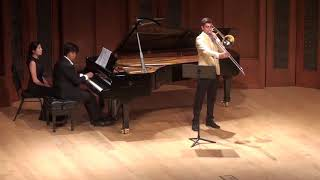 Brian Wendel - Stephenson Sonata for Trombone and Piano, 2nd movement - LIVE